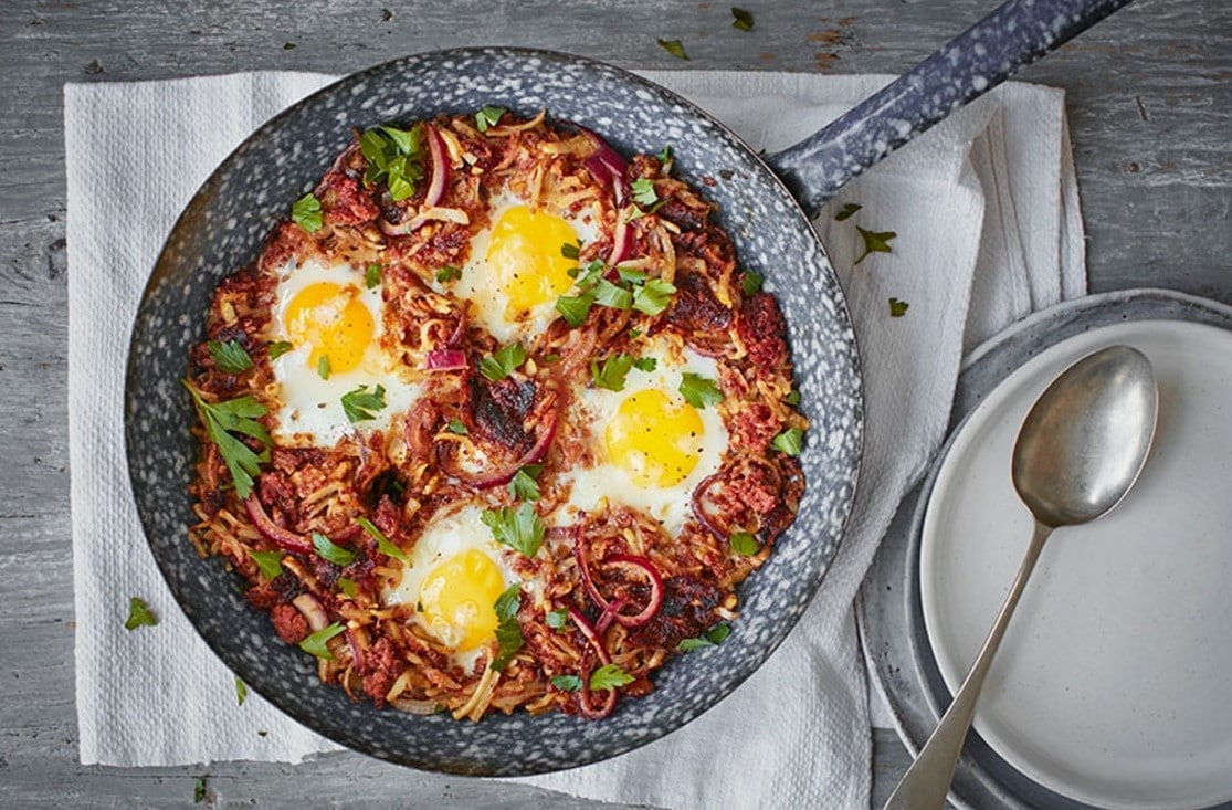 canned corned beef hash recipe