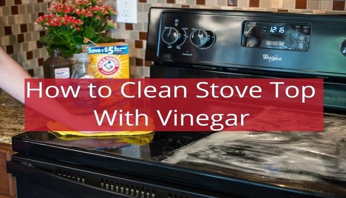 how to clean stove top with vinegar