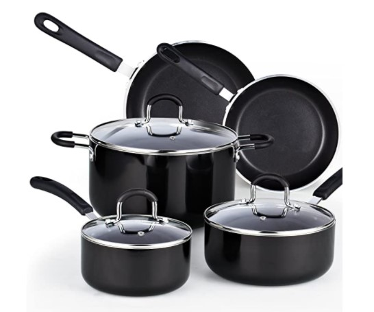 Cook N Home 8 Piece Nonstick Heavy Gauge Cookware Set