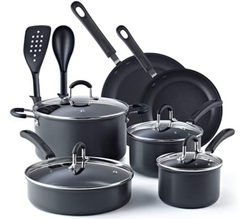 Cook N Home Black 12 Piece Nonstick