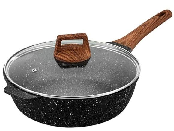 ESLITE LIFE Deep Frying Pan with Lid