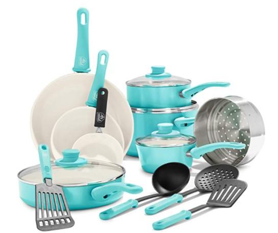 GreenLife Soft Grip Nonstick Cookware set