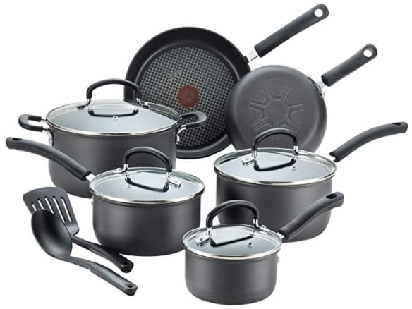 T-fal Ultimate Hard Anodized Nonstick 12 Piece Cookware Set